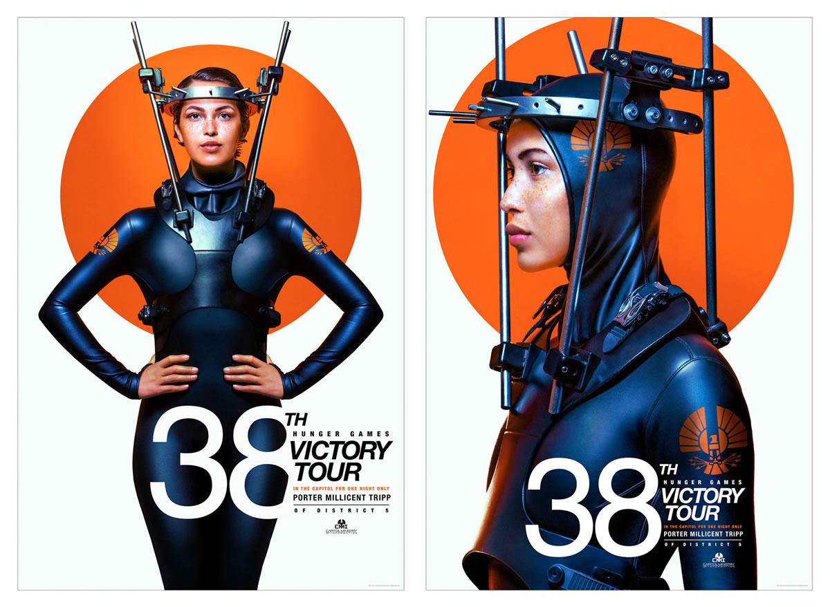 Back brace designed for 'Hunger Games' film campaign
