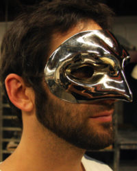 Chrome Mask for Photogrpaher Tim Palen