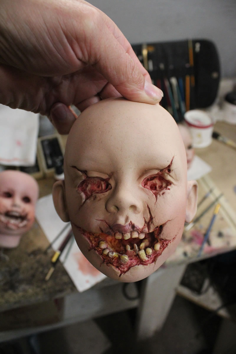 Creepy Doll Head from the series 'American Horror Story' Season 6 Promo Campaign