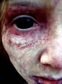 Decaying child from the film 'Alphabet Killer'