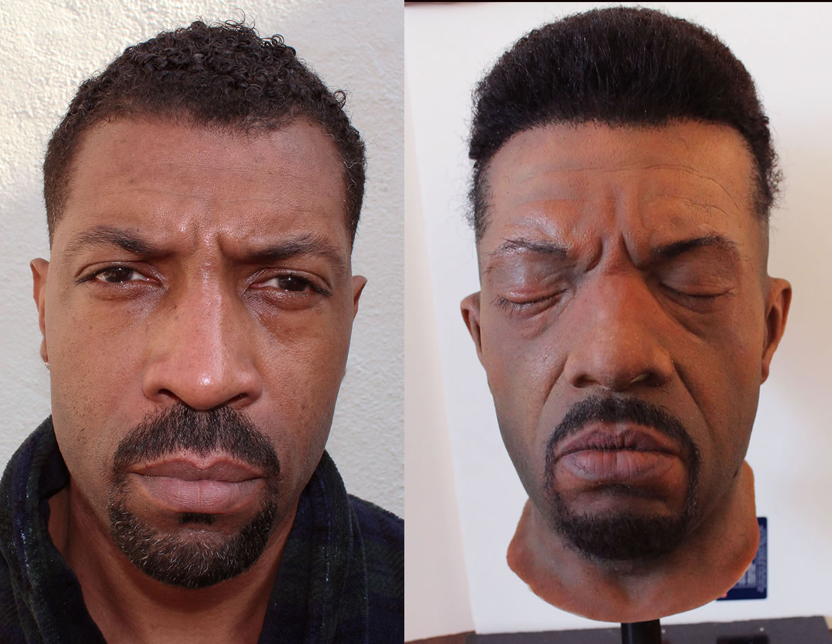 Deon Cole Pull over mask for the TBS series 'Angie Tribeca'