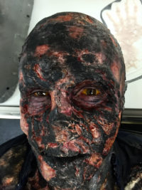 Extreme burned victim for the Fox t.v series 'Bones'