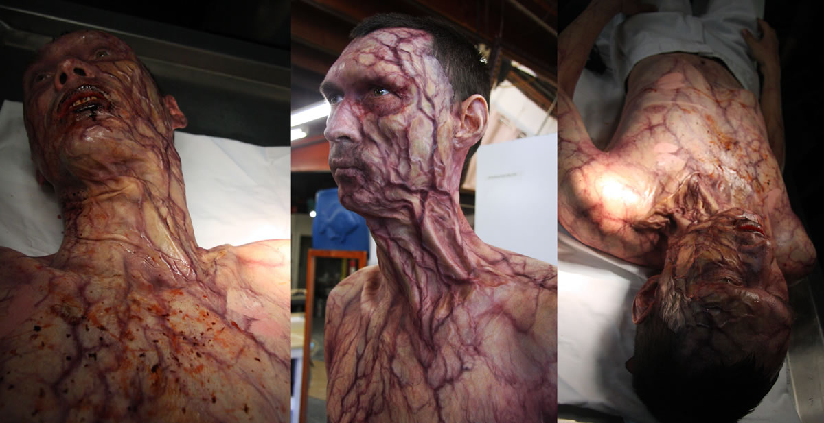 Extreme infected makeup for the film 'The Maze Runner'