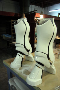 Finished Fiberglass boots for Japanese commercial