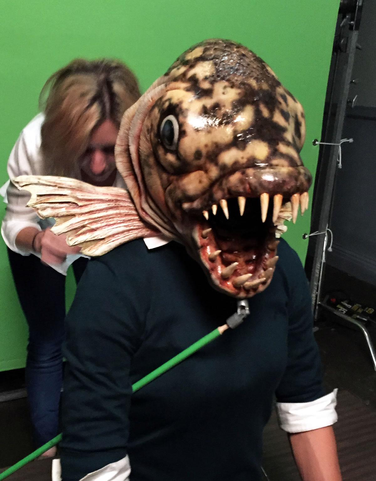 Fish Articulated mask for Animal Planet 'Monster week' commercial