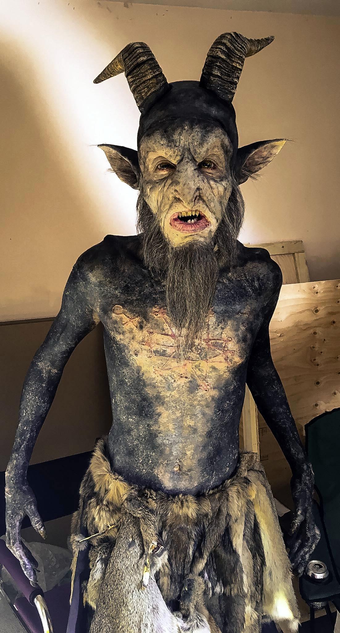 Full body Baphomet Makeup 'Stan Against Evil'
