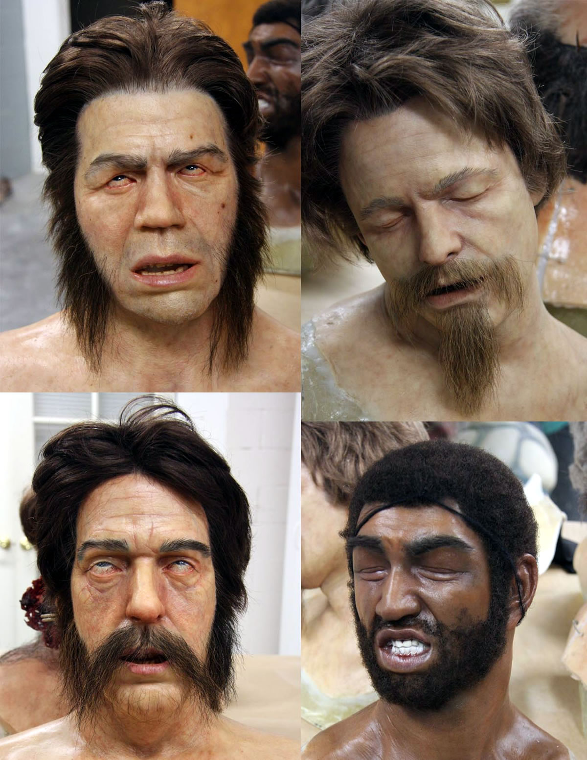 Generic Heads for 'Abe Lincoln - Vampire Hunter'