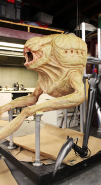 Griever half body puppet from 'The Maze Runner'