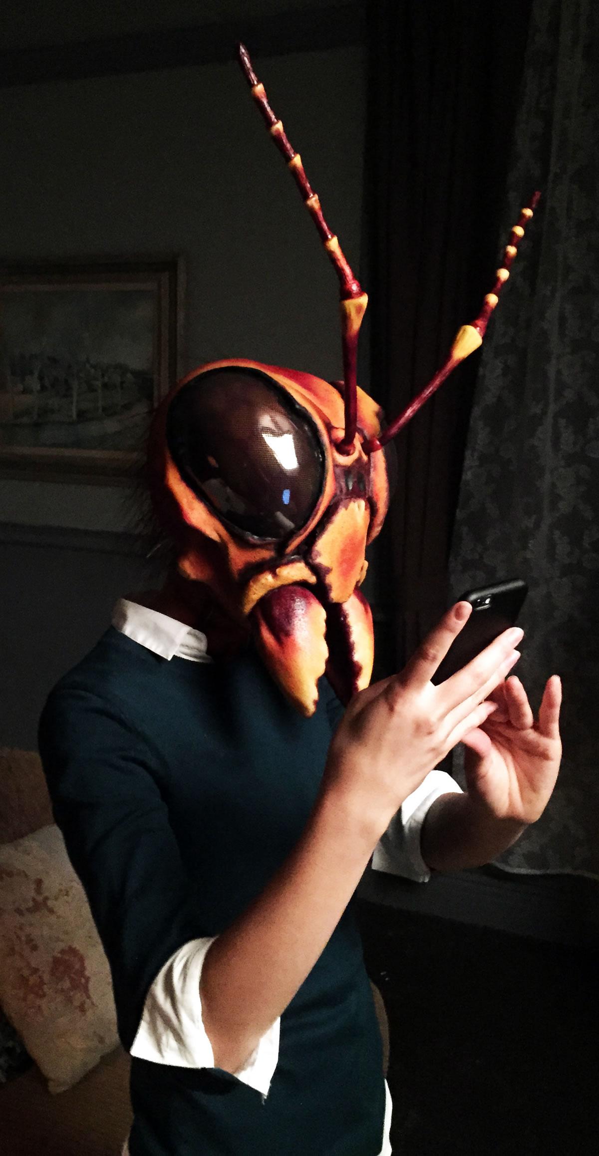 Hornet Articulated mask for Animal Plnet 'Monster Week' Commercial