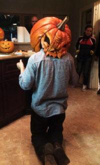 Killer Pumpkin Puppet from the film 'Tales of Halloween'