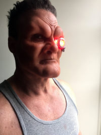 'Kuhn' silicone makeup and eyepiece created for the WB series 'Supergirl'