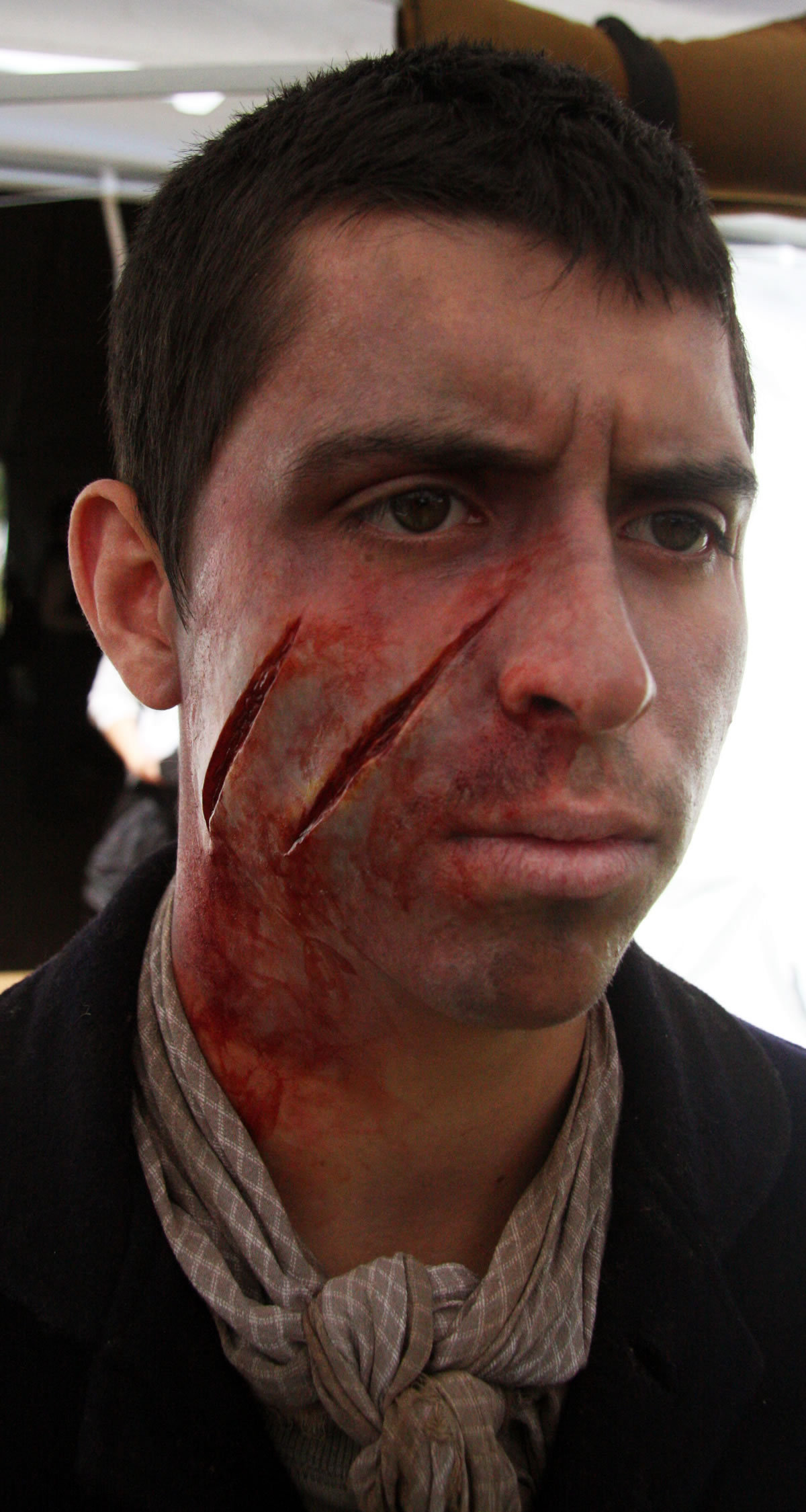 Silicone lacerations for the film 'Abe Lincoln-Vampire Hunter'